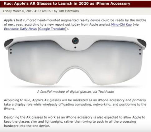 Apple AR Glass 2020
