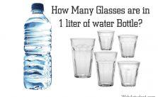 1 liter of water